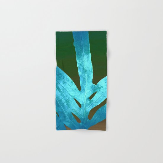 Autumn Leaves Blue and Cold Fall to the Ground Hand & Bath Towel