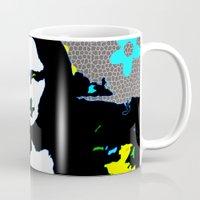 mona lisa Mugs featuring Mona Lisa by Big AL
