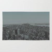 manhattan Area & Throw Rugs featuring Manhattan by Leah Flores