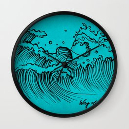 WAY OF THE OCEAN - Waves Print Wall Clock