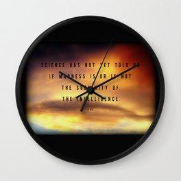 Sublimity of the Intelligence ~ Edgar Allan Poe Wall Clock
