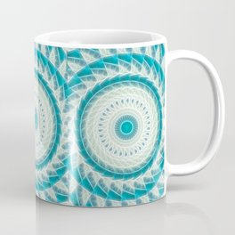 Cyan Glow Kaleidoscope 16 Coffee Mug