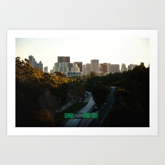 Downtown San Diego Skyline Art Print