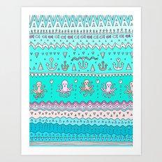 Sea Lines Art Print