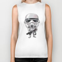 storm trooper Biker Tanks featuring STORM TROOPER by Leoren