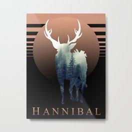 Hannibal - Forest Ravenstag Metal Print