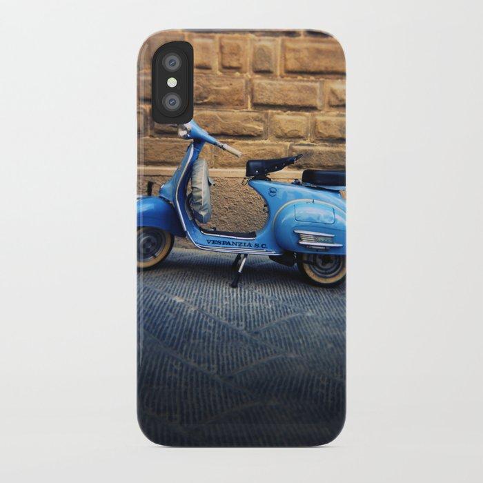 Blue Vespa, Italy iPhone Case