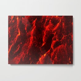 Red Abstract #2 Metal Print