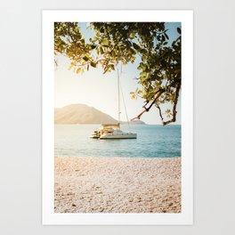 Fitzroy Island Catamaran   Cairns Australia Tropical Beach Sunset Photography Art Print