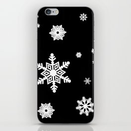 Snowflakes | Black & White iPhone Skin
