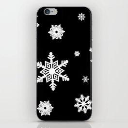 Snowflakes   Black & White iPhone Skin