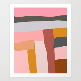 Modern Abstract in Earthy Colors Art Print