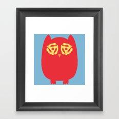 Owl 45s Framed Art Print