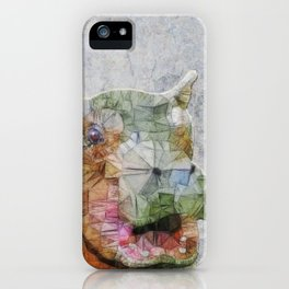 abstract hippo iPhone Case