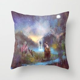 Merewif - Spirit of the Waters Throw Pillow