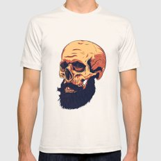 Mr. Skull MEDIUM Natural Mens Fitted Tee
