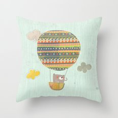 Bear in the air Throw Pillow