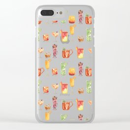 Happy Hour Drinks Clear iPhone Case