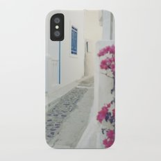 White Santorini Street Slim Case iPhone X