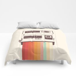 Instant Camera Rainbow Comforters