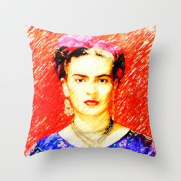 Looking for Frida Kahlo... Throw Pillow