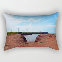 North Cape Wind Park and Cliff Rectangular Pillow