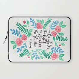 The Brighter the Light Laptop Sleeve