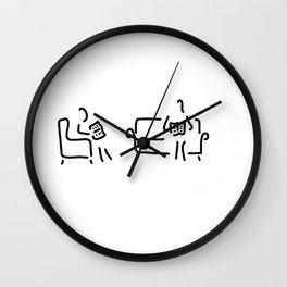 read sitting room sofa Wall Clock