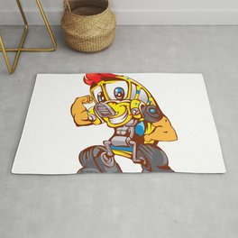 School bus cartoon Rug