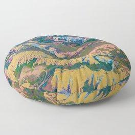 Golden Land Floor Pillow