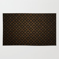 lv Area & Throw Rugs featuring LV Pattern by Veylow