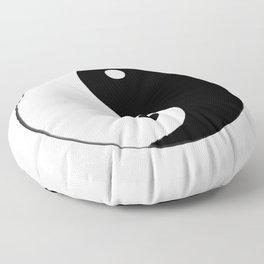 Yin and Yang BW Floor Pillow