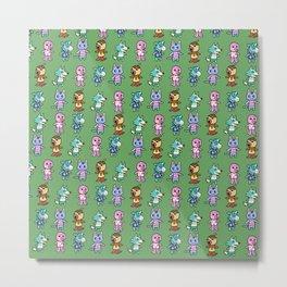 Animal Crossing Design 3 Metal Print