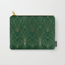 Art Deco in Gold & Green Carry-All Pouch