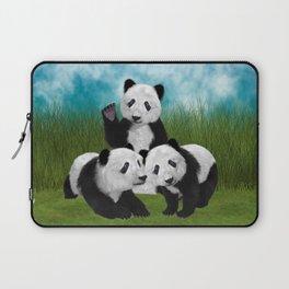 Panda Bear Cubs Love Laptop Sleeve