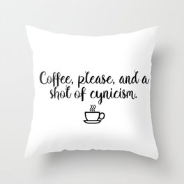 Gilmore Girls - Coffee and Cynicism Throw Pillow