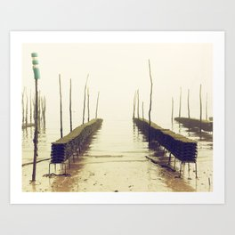 Foggy afternoon in Cap-Ferret Art Print