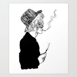 just visiting. Art Print