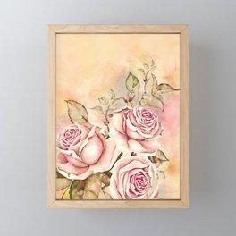 Sweet Rosa #floral #watercolor Framed Mini Art Print
