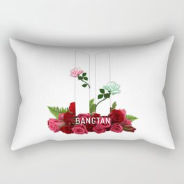 BTS Bangtan Roses Rectangular Pillow