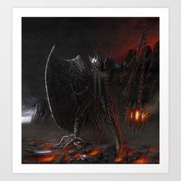 The Fall Of Fingolfin Art Print