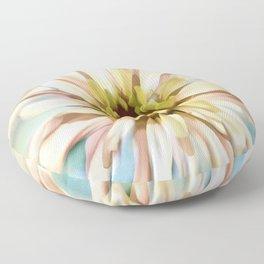 Pastel Zinnia Floor Pillow