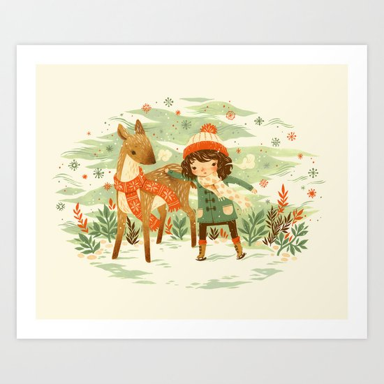 A Wobbly Pair Art Print