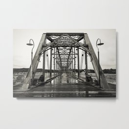 Walnut Street Bridge in Platinum Metal Print