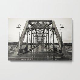Walnut Street Bridge in Platinum Metal Print