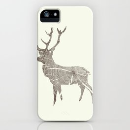 Wood Grain Stag iPhone Case