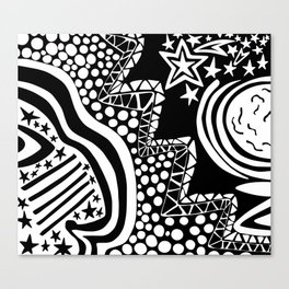 Soul Of The Dream Desert - Star Gazer (Black and White Edition) Canvas Print