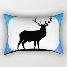 Deer and Moon Rectangular Pillow