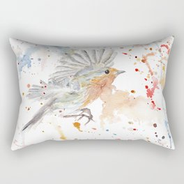 "Watercolor Painting of Picture ""Robins"" Rectangular Pillow"