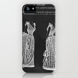 1887 Lady's Dress Patent Print iPhone Case